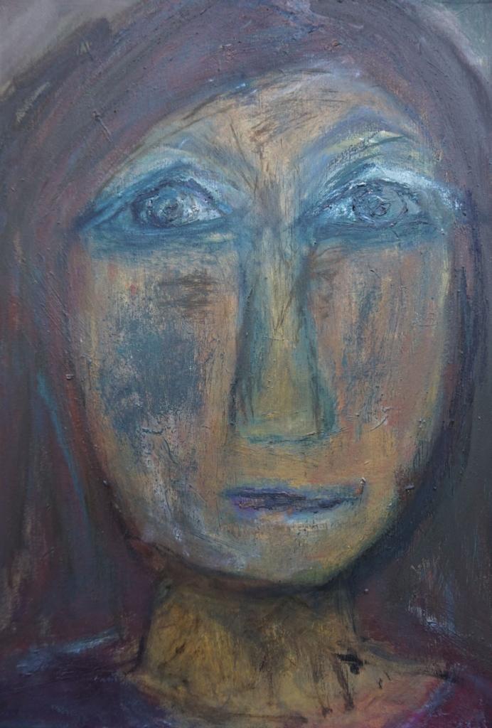Kvinde med rødbrunt hår