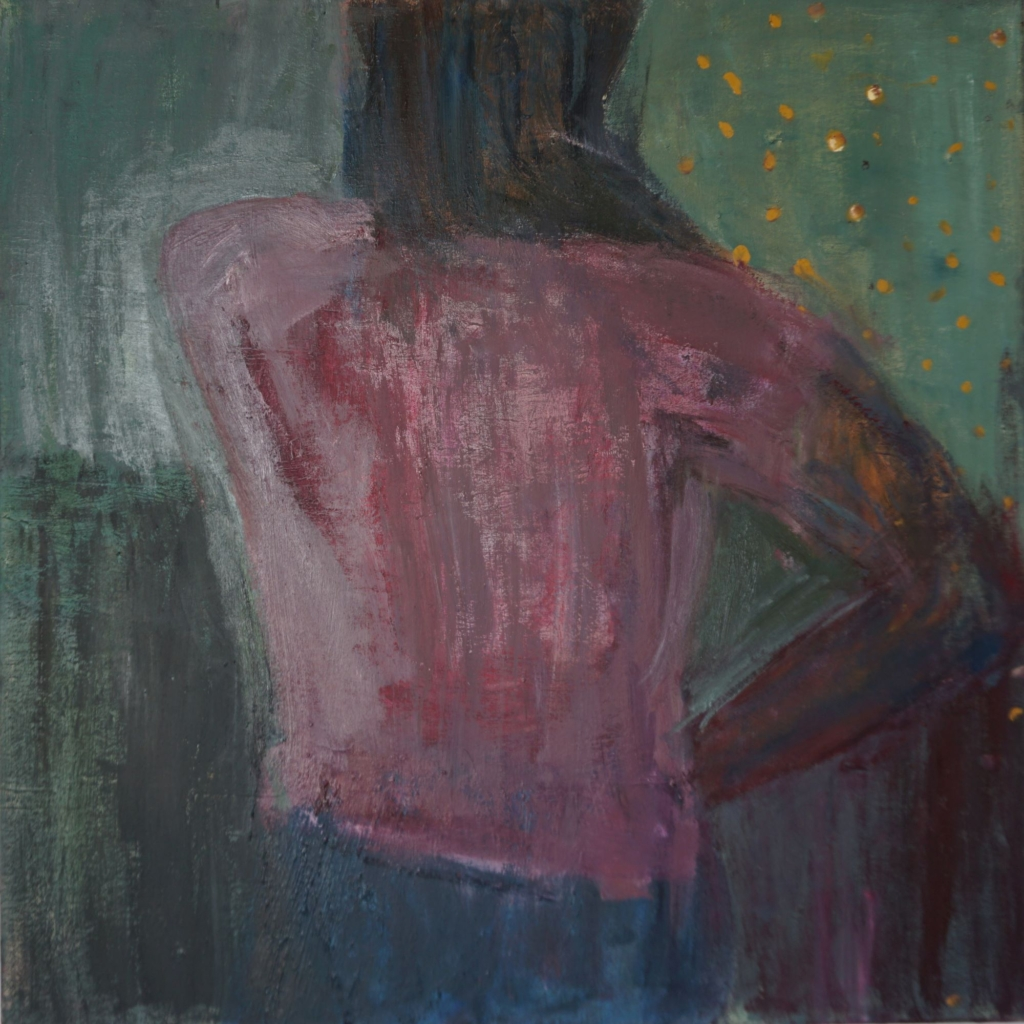 Kvinde i rosa bagfra